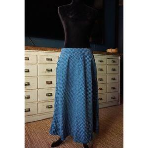 Anthropologie Wale Corduroy Polka Dot Skirt